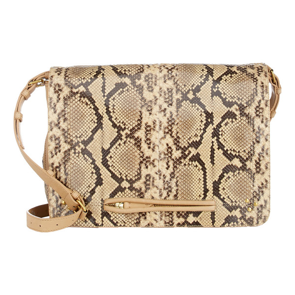 JEROME DREYFUSS Python albert messenger-nude - Crafted of Acapulco (beige and brown) python and beige...