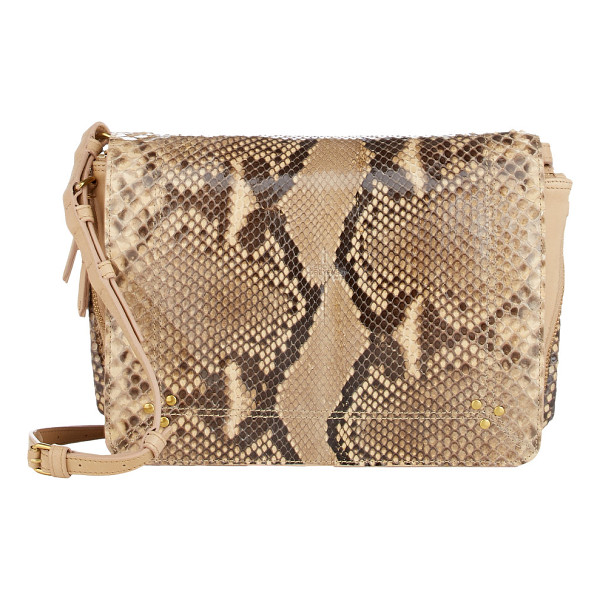 JEROME DREYFUSS Python igor small messenger - Jérôme Dreyfuss Acapulco (beige and brown) python and beige...