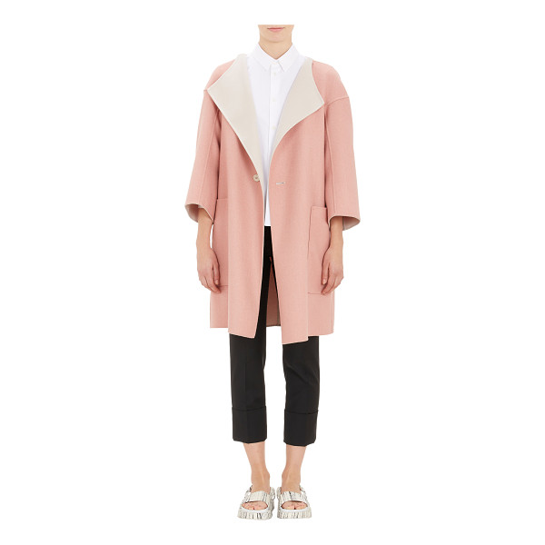 JIL SANDER Reversible double-face cashmere coat - Jil Sander pink double-face cashmere one-button collarless...