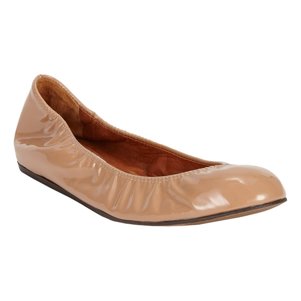 "LANVIN Patent ballet flats-nude - Lanvin nude patent leather ballet flat. Approximately .75""..."