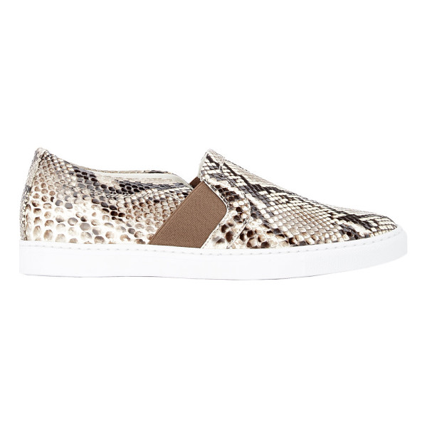 "LANVIN Python slip-on sneakers-nude - Lanvin natural and white python slip-on sneakers. 1"" (25mm)..."