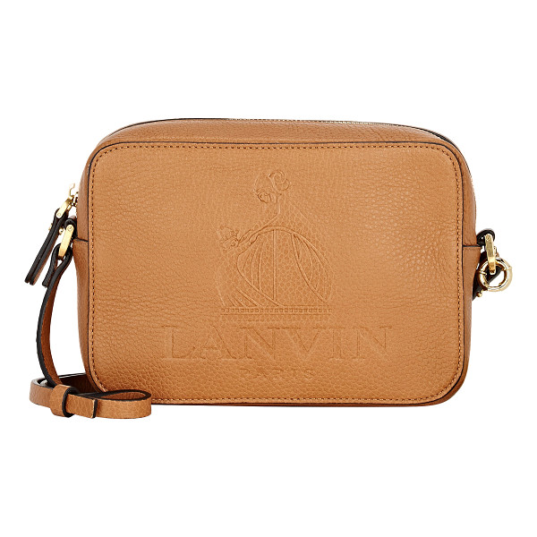 LANVIN Small camera bag-nude - Lanvin Camel grained leather small camera bag. Embossed...