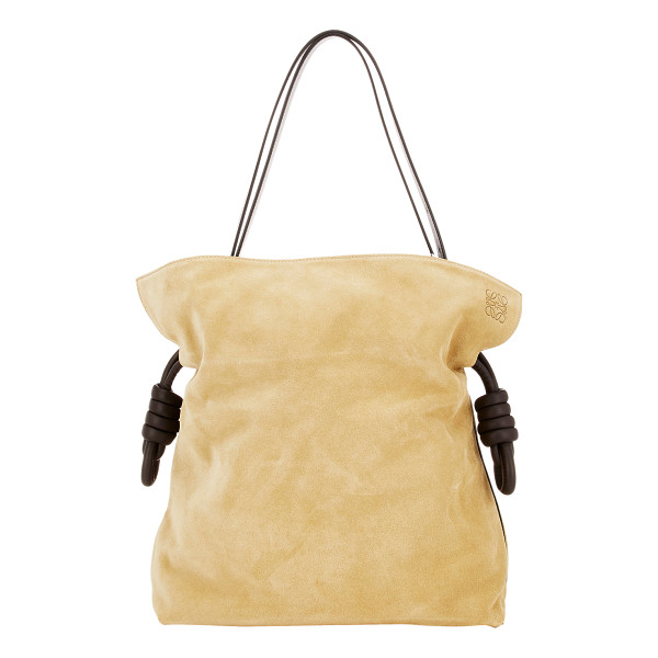 LOEWE Flamenco knot large bag-brown - Crafted of tan suede, Loewe's Flamenco Knot bag is styled...