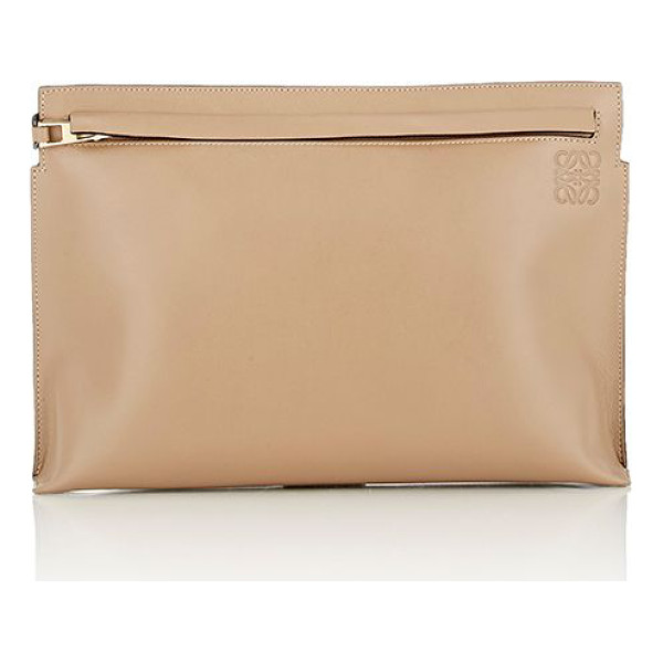 LOEWE Large pouch-tan - Loewe Mink (taupe) supple smooth calfskin large pouch...