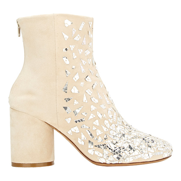 MAISON MARGIELA Embellished side-zip boots-nude - Crafted of Flesh (beige) suede, Maison Margiela's side-zip...