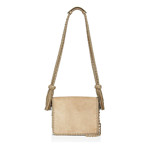 MAISON MAYLE Ines shoulder bag-nude - Crafted of sand suede, Maison Mayle's Ines shoulder bag is...