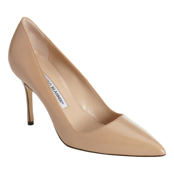 MANOLO BLAHNIK Bb pumps-beige, nude - Manolo Blahnik sand kidskin BB pumps are styled with a...