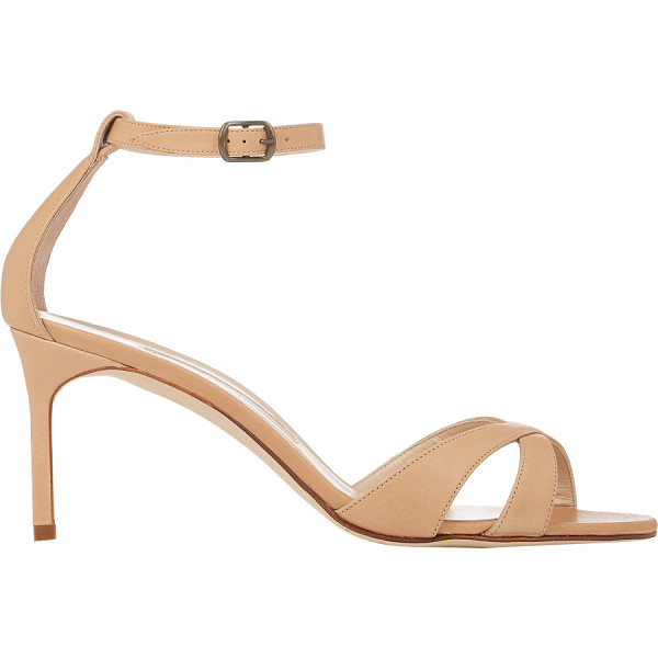 MANOLO BLAHNIK Callre ankle-strap sandals-nude - Manolo Blahnik beige smooth calfskin Callre ankle-strap...