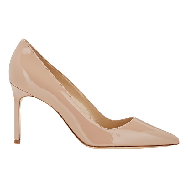"MANOLO BLAHNIK Patent bb pumps-nude - Manolo Blahnik beige blush patent leather BB pumps. 3.5""..."