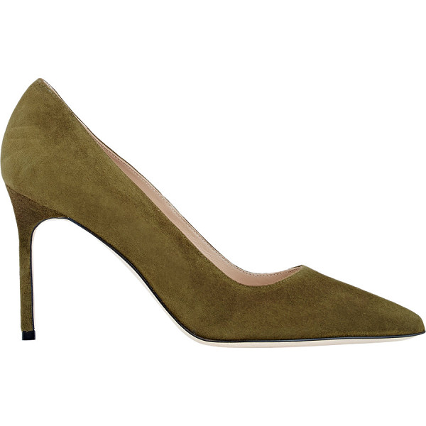 MANOLO BLAHNIK Suede bb pumps-colorless - Manolo Blahnik Asiago (khaki green) suede BB pumps....