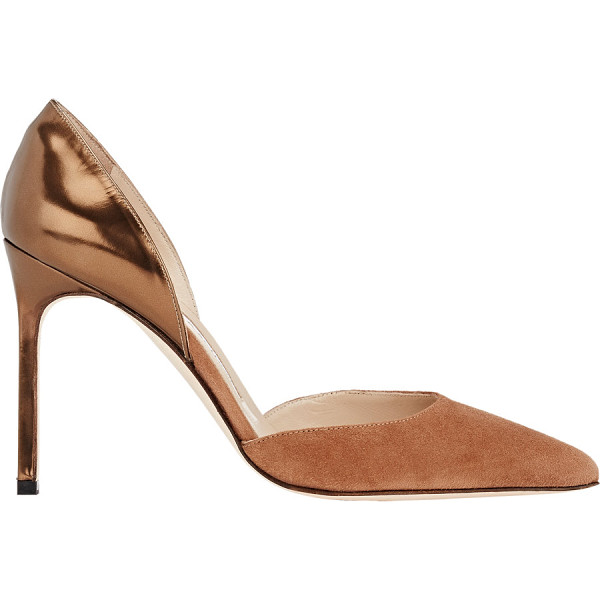 MANOLO BLAHNIK Taylerbi dorsay pumps-nude - Exclusively Ours! Crafted in colorblocked suede and...