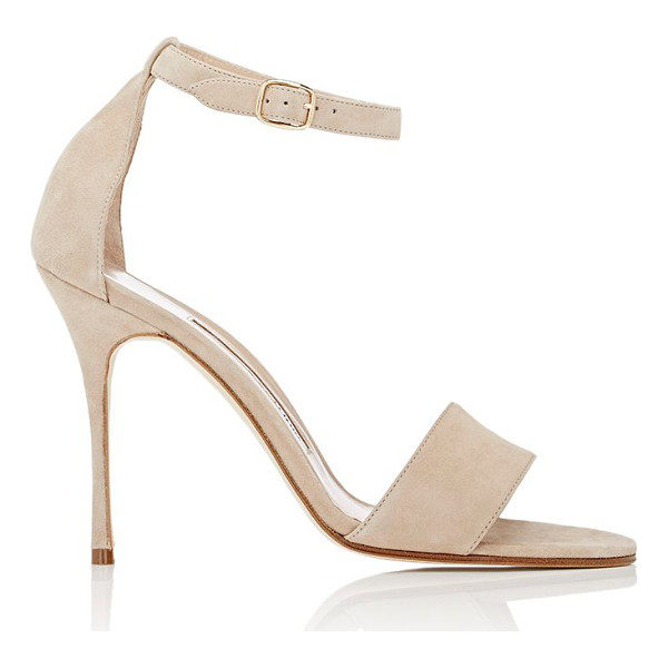 MANOLO BLAHNIK Tres sandals-beige - Manolo Blahnik Nude (taupe) suede Tres sandals styled with...