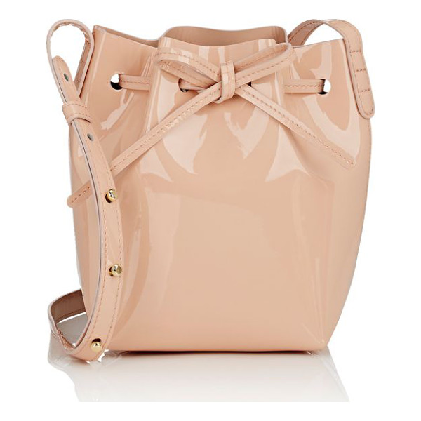 MANSUR GAVRIEL Mini-mini bucket bag-pink - Mansur Gavriel pink patent leather mini-mini bucket bag....