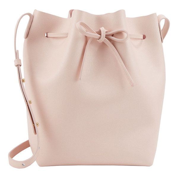 MANSUR GAVRIEL Saffiano large bucket bag-pink - Exclusively Ours! Mansur Gavriel pink saffiano leather...