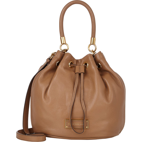 MARC BY MARC JACOBS Too hot to handle bucket bag-brown - Marc by Marc Jacobs Praline (light brown) grained leather...