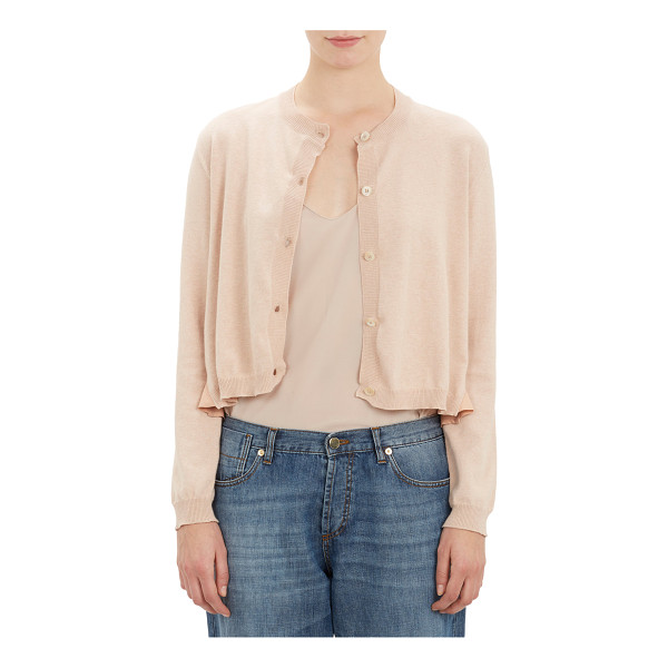 MARNI Silk-back cardigan-pink - Marni cream cardigan styled at front in fine-gauge knit and...