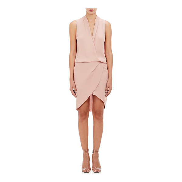MASON BY MICHELLE MASON Surplice-neck dress-pink - Exclusively Ours! Crafted of silk crepe, Mason by Michelle...