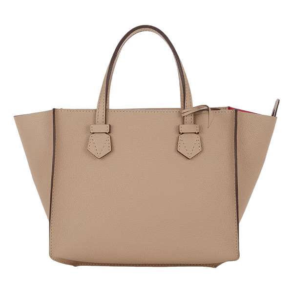 MOREAU Brégançon open tote-tan - Exclusively Ours! Moreau Tourterelle (beige) grained...