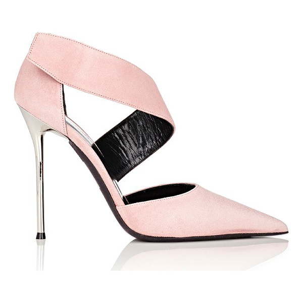 NARCISO RODRIGUEZ Narciso rodriguez camilla dorsay pumps-pink - Crafted of Rose suede, Narciso Rodriguez's Camilla d'Orsay...