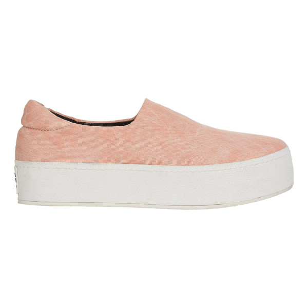OPENING CEREMONY Slip-on platform sneakers-pink - Opening Ceremony light pink bleached-effect stretch denim...