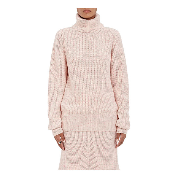 ORLEY English rib-knit cashmere turtleneck sweater-pink -