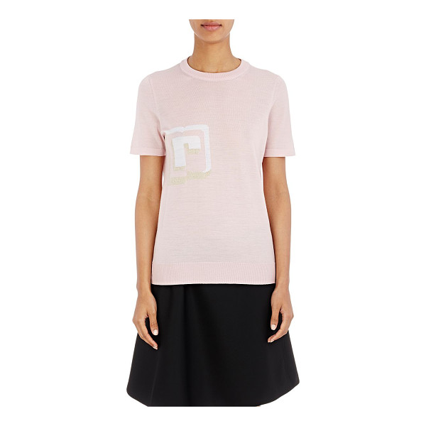 PACO RABANNE Monogrammed sweater-pink - Paco Rabanne's short-sleeve sweater is crafted of pink...