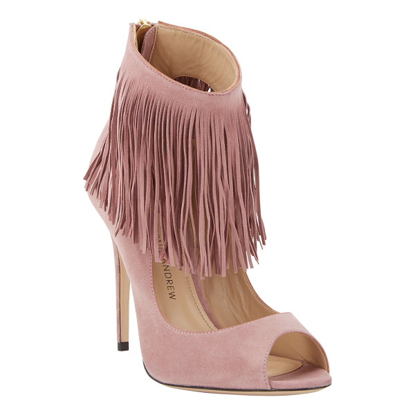 PAUL ANDREW Fringe-trim aztec pumps-nude - Exclusively Ours! Paul Andrew dusty mauve suede peep-toe...