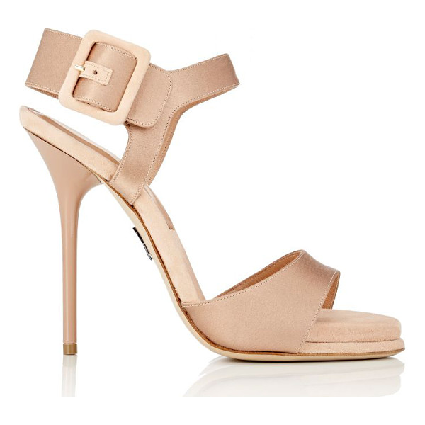 PAUL ANDREW Kalida ankle-strap sandals-red - Paul Andrew blush satin Kalida ankle-strap sandals styled...
