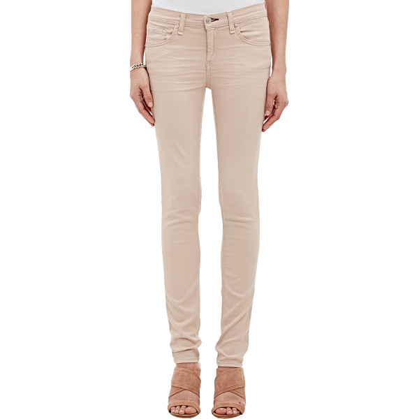 RAG & BONE Skinny jeans-colorless - Rag & Bone Distressed Blossom (pink-taupe) stretch...