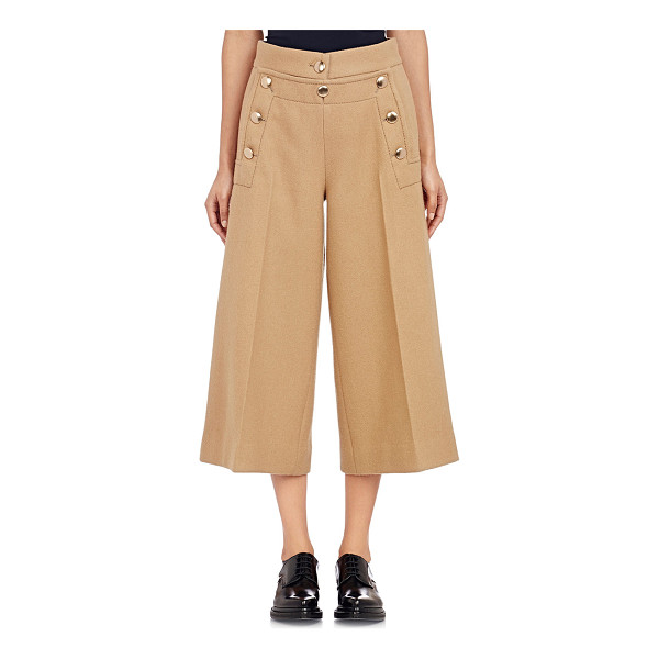 SACAI LUCK Melton crop sailor pants-nude - Sacai Luck camel wool melton crop wide-leg sailor pants...
