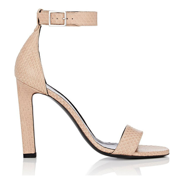 SAINT LAURENT Grace sandals-tan - Saint Laurent beige snakeskin Grace ankle-strap sandals....