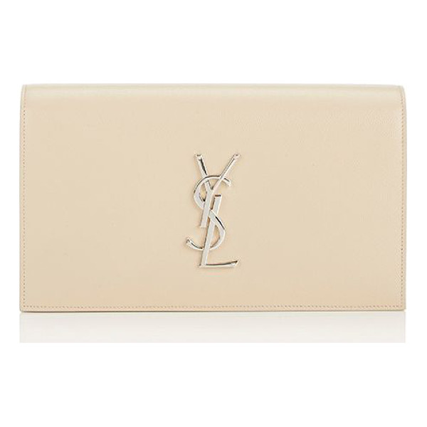 SAINT LAURENT Monogram kate clutch-cream - Saint Laurent cream caviar-grained leather Monogram Kate...