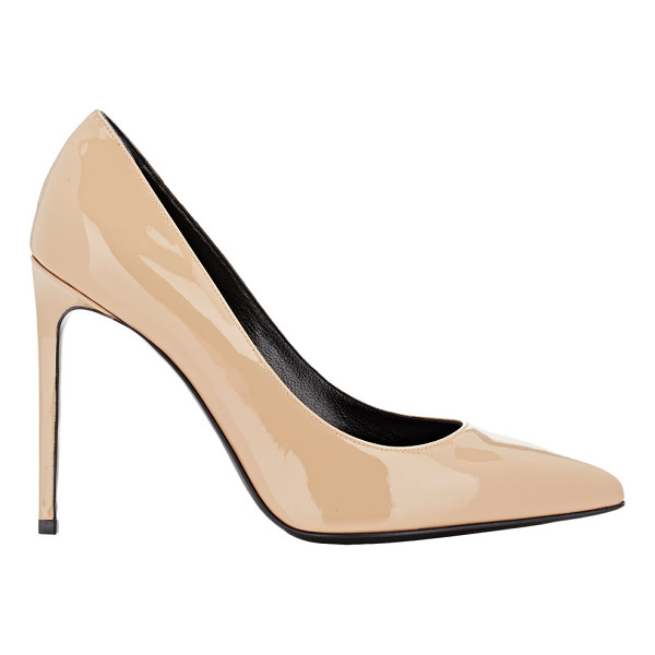 SAINT LAURENT Paris skinny pumps-nude - Saint Laurent Café patent leather pointed-toe Paris Skinny...