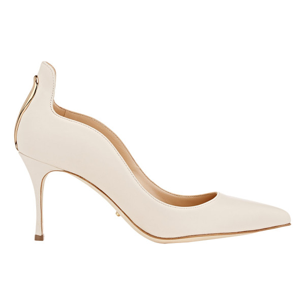 SERGIO ROSSI Metal-detail blink pumps-colorless - Sergio Rossi Chalk (off-white) nappa leather pointed-toe...