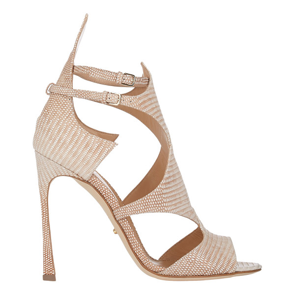 SERGIO ROSSI Lizard-stamped patricia sandals - Crafted of tejus-stamped leather, Sergio Rossi's Patricia...
