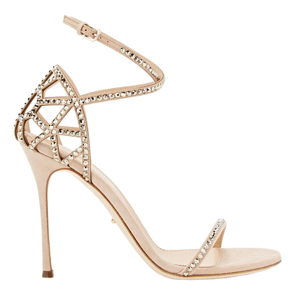 SERGIO ROSSI Puzzle crisscross-strap sandals-colorless - Crafted of Sand suede, Sergio Rossi's Puzzle ankle-strap...