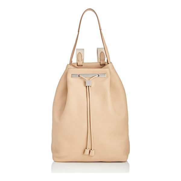 THE ROW The row backpack 11-nude - The Row Natural (beige) smooth calfskin Backpack 11 styled...