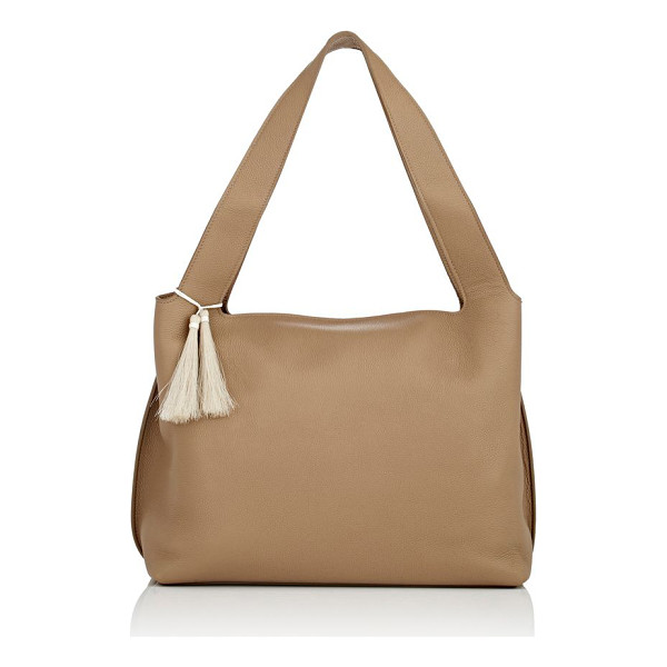 THE ROW Duplex shoulder bag-beige - Crafted of khaki suede, The Row's Duplex boxy shoulder bag...