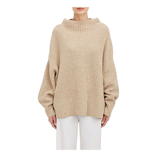 THE ROW Kaila sweater-nude - The Row light beige silk-cotton English rib-knit Kalia...