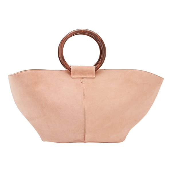 THE ROW Market bag-pink - Exclusively Ours! Crafted of dusty pink suede, The Row's...