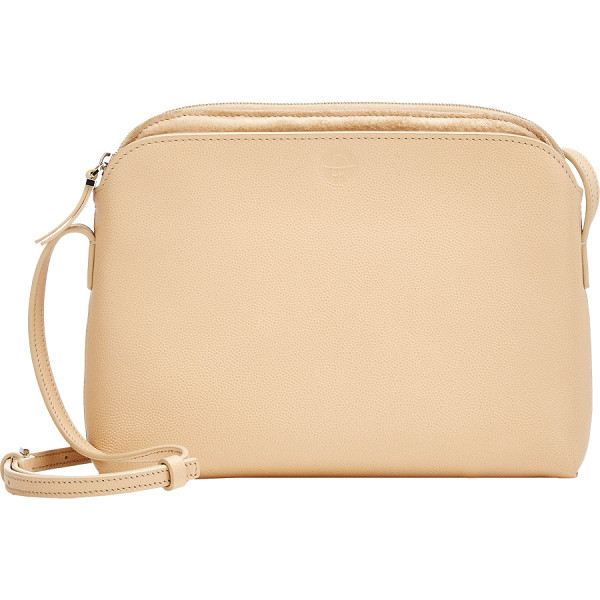 THE ROW Multi-pouch shoulder bag-colorless - Crafted of Sugar Cane (beige) caviar-grained leather, The...