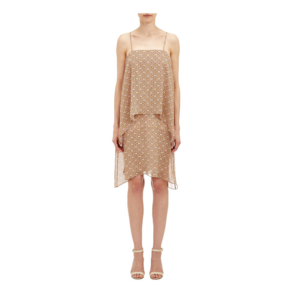 THEORY Layered dafeon dress-nude - Theory's spaghetti-strap Dafeon dress is crafted in...