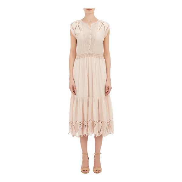 ULLA JOHNSON Coralie dress-nude - Exclusively Ours! Crafted of rose peach eyelet embroidered...