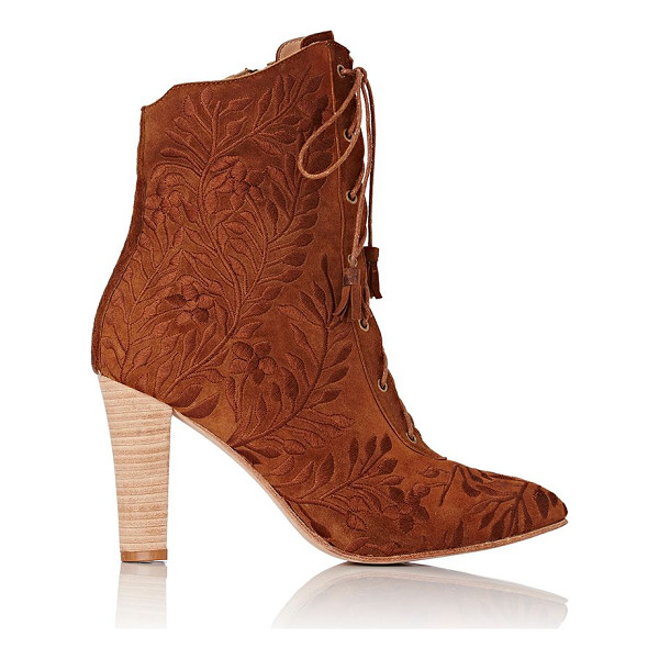 ULLA JOHNSON Embroidered audrey ankle boots-brown - Ulla Johnson's Audrey ankle boots are crafted of Saddle...