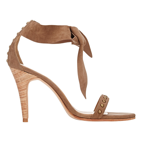 ULLA JOHNSON Studded bianca ankle-tie sandals-nude - Crafted of tan suede, Ulla Johnson's Bianca sandals are...