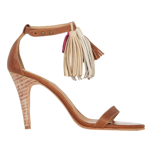 ULLA JOHNSON Tassel luz sandals-brown - Ulla Johnson brown leather Luz sandals styled at ankle...