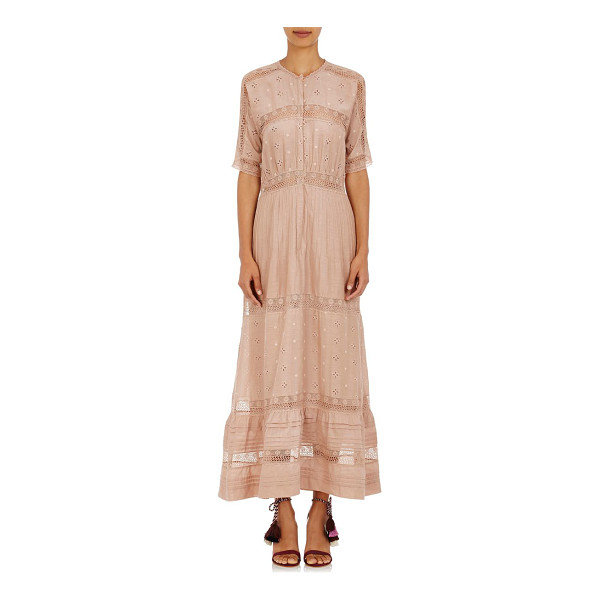 ULLA JOHNSON Vasilisia maxi dress-pink - Crafted of Dusty Rose cotton-silk voile embellished with...