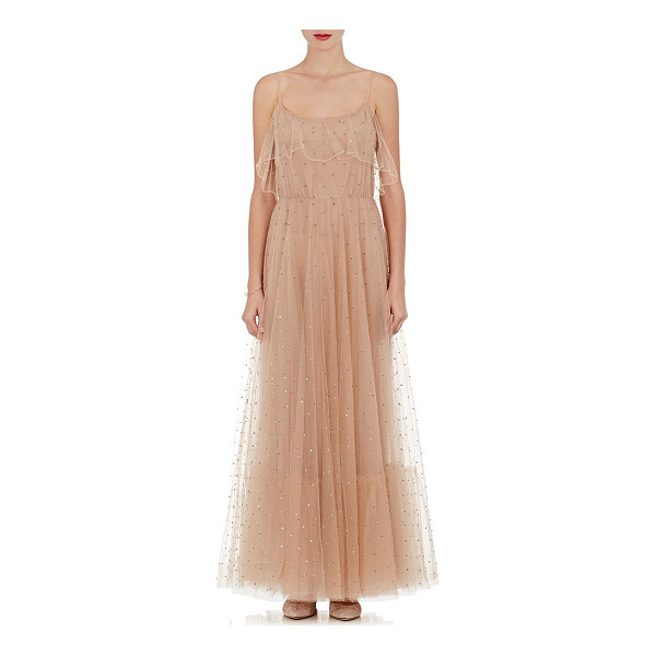 VALENTINO Delicate tulle gown-nude -