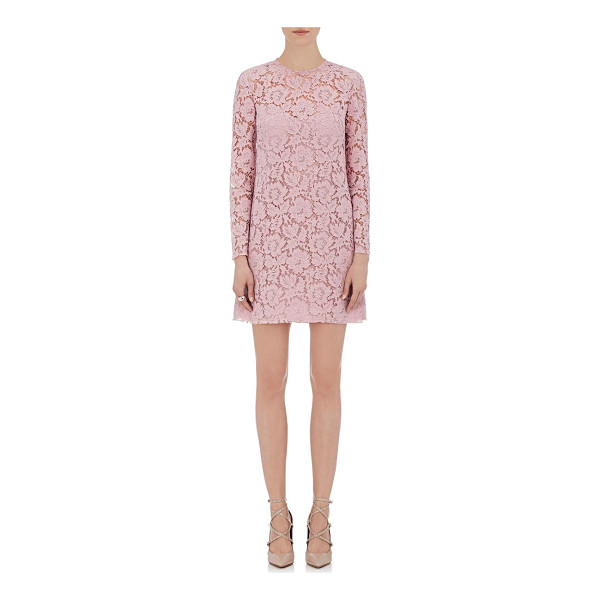 "VALENTINO Guipure lace shift dress-pink - Valentino pink guipure lace shift dress. 33"" from shoulder..."