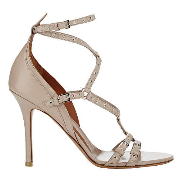 VALENTINO Strappy sandals-colorless - Valentino beige smooth leather strappy sandals styled...